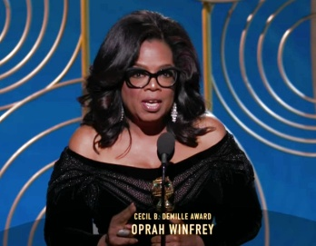 Oprah Winfrey speech at the 2018 Golden Globes